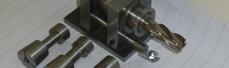 End mill grinding attachment